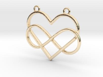 coeur en contour et infini entrelaces