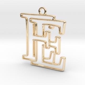 """""""E&E initiales en contour"""" imprimées en 3D"""