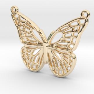 Pendentif papillon en impression 3D métal