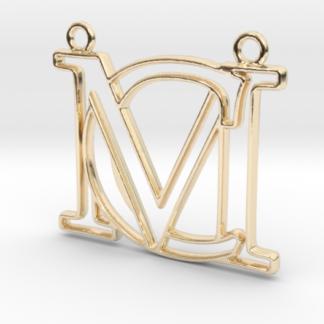 """""""A&M initiales en contour"""" imprimées en 3D"""