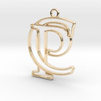 """""""C&P initiales en contour"""" imprimées en 3D"""