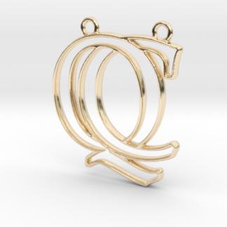 """""""C&Q initiales en contour"""" imprimées en 3D"""