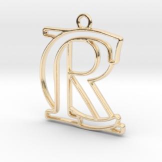 """""""C&R initiales en contour"""" imprimées en 3D"""