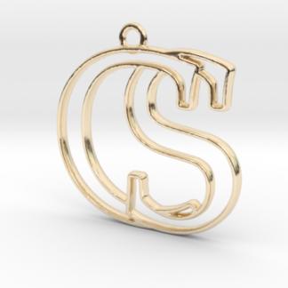 """""""C&S initiales en contour"""" imprimées en 3D"""