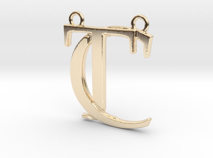 """""""C&T initiales imbriquées"""" imprimées en 3D"""