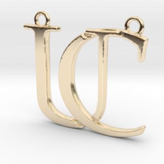 """""""C&U initiales imbriquées"""" imprimées en 3D"""