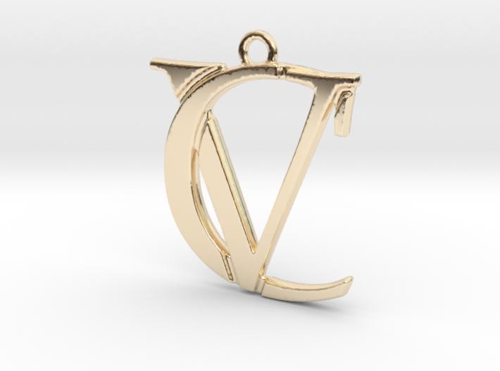 """""""C&V initiales imbriquées"""" imprimées en 3D"""