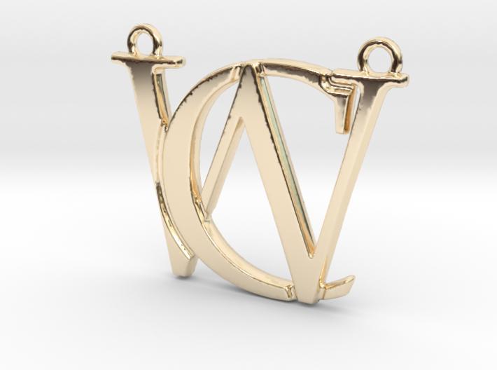 """""""C&W initiales imbriquées"""" imprimées en 3D"""