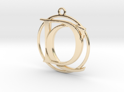 """""""C&D initiales et anneau"""" imprimés en 3D"""