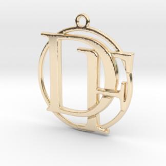 """""""F&D initiales et anneau"""" imprimés en 3D"""