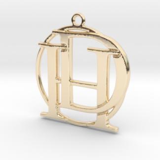 """""""H&D initiales et anneau"""" imprimés en 3D"""