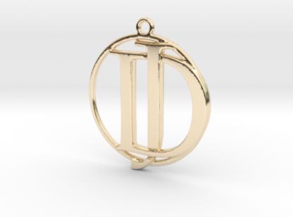 """""""J&D initiales et anneau"""" imprimés en 3D"""