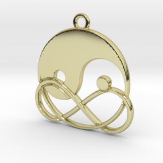 Yin-Yang et signe infini entremêlés