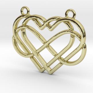 2 cœurs et signe infini entremêlés