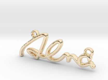 Alma prénom 3D en lettres script