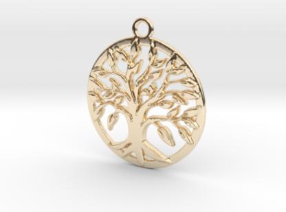Arbre de vie et anneau en métal 3D