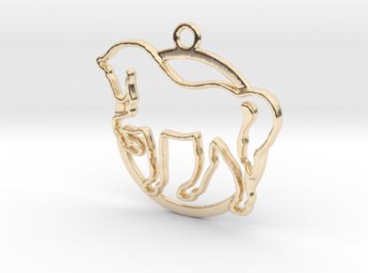 Cheval et anneau en contour