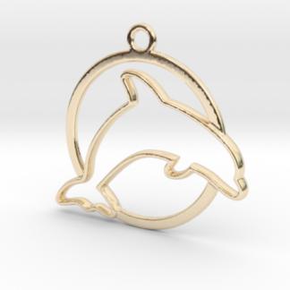 Dauphin et anneau en contour