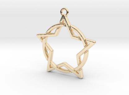 Etoile et cercle entrelacés en métal 3D