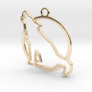 loup et anneau en contour