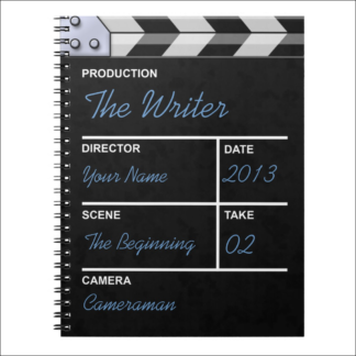 """Carnet de notes """"clap cinéma"""" à personnaliser"""