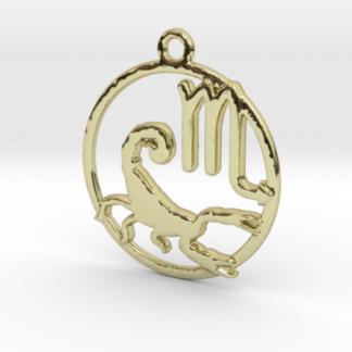 "Pendentif zodiaque : symbole et forme ""scorpion"""