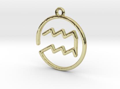 """Pendentif zodiaque : symbole """"verseau"""""""