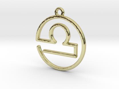 "Pendentif zodiaque : symbole ""balance"""