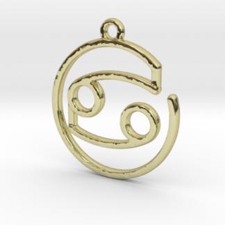 Pendentif zodiaque : symbole cancer