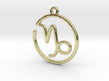 """Pendentif zodiaque : symbole """"capricorne """""""