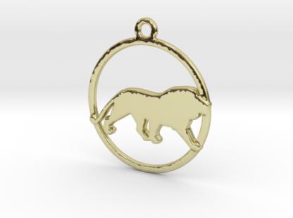 """Pendentif zodiaque : forme """"lion"""""""