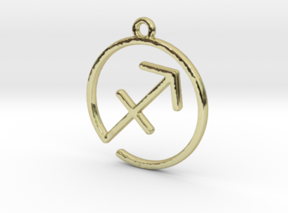"Pendentif zodiaque : symbole ""sagittaire"""