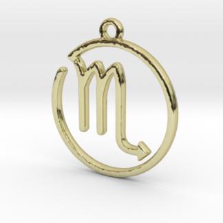 """Pendentif zodiaque : symbole """"scorpion"""""""