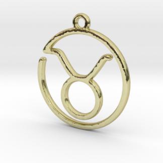 Pendentif zodiaque : symbole taureau