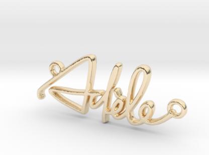Adèle prénom 3D en lettres script