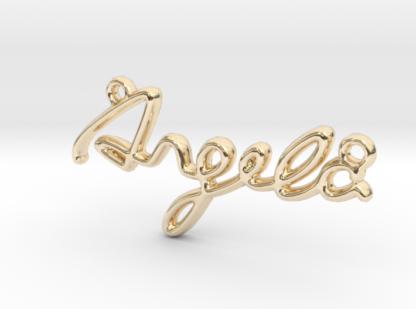 Angela prénom 3D en lettres script