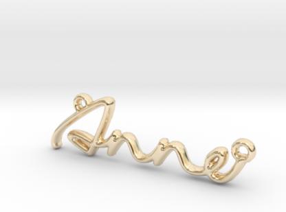 Anne prénom 3D en lettres script