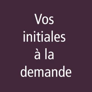 Formulaire initiales / monogrammes à la demande