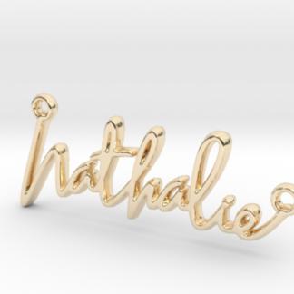 Nathalie prénom 3D en lettres script