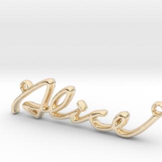Alice prénom 3D en lettres script