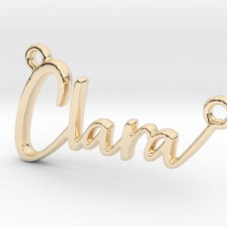 Clara prénom 3D en lettres script