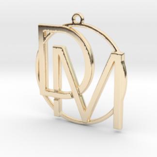 """""""D&M initiales et anneau"""" imprimés en 3D"""
