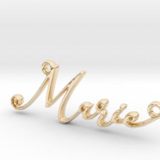 Marie prénom 3D en lettres script