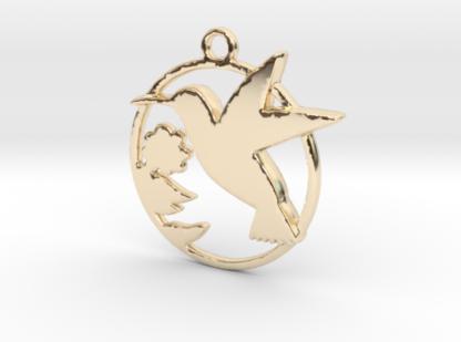 Colibri et fleur en impression 3D métal
