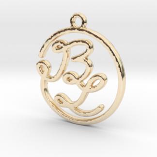 B&L initiales script en ligne continue en 3D