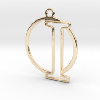 """""""I initiale en contour et anneau"""" imprimés en 3D"""