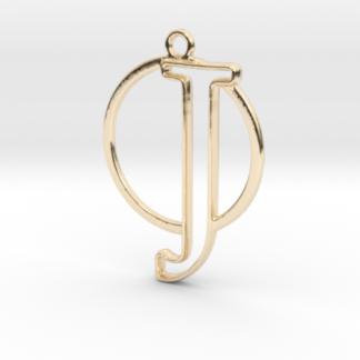 J initiale et cercle entrelacés en 3D