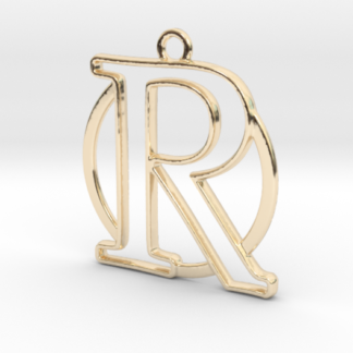 """""""R initiale en contour et anneau"""" imprimés en 3D"""