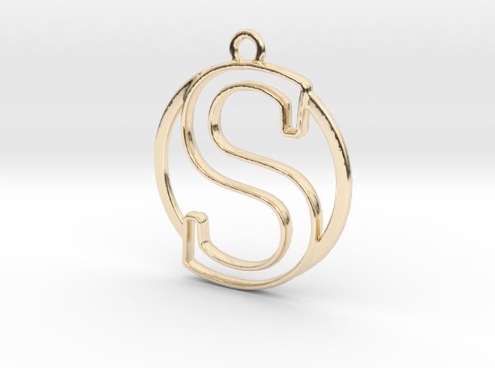 """""""S initiale en contour et anneau"""" imprimés en 3D"""