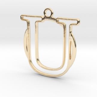 """""""U initiale en contour et anneau"""" imprimés en 3D"""